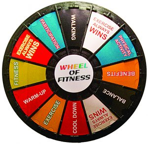 Seniors Spin the Wheel of Fitness-Wheel of Fitness